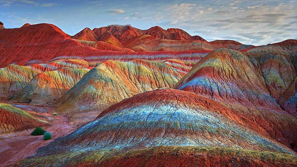Rainbow Mountains in China